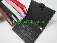 free shipping Colourful Portable USB Keyboard Faux Leather Case for 7 inch 8 inch 9.7 inch 10.1 inch support Russian Hebrew