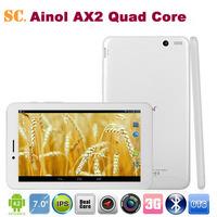 "Original Ainol AX2 3G Phone Call Tablet PC 7"" MTK8382 Quad Core Android 4.2 ROM 8G Dual Camera Bluetooth GPS WCDMA IPS1280*800"