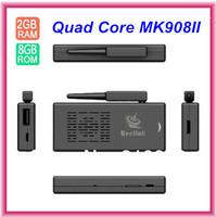 MK908 II MK908II Android TV BOX Quad Core Mini PC RK3188 1.6GHz 2GB RAM 8GB Antenna HDMI OTG Micro SD WiFi Smart TV Receiver