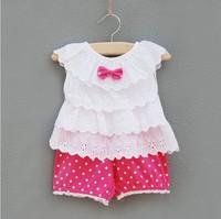 2014 new style Baby girl's set  summer  clothing set infantis Clothing Girl Brand cotton Set Baby Girl design 2pcs for newborn