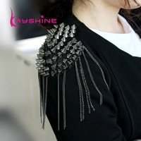 Fashion Element Spike Punk Style Tassels Brooch/Shoulder Board Jewelry