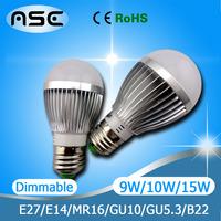 Super Cheap E27 LED Bulb Light  3W 4W 9W 10W 12W 15W LED Bulb E27 Lamp Light AC85~265V Light Body 10pcs/LOT