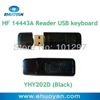 USB Dongle Emulate Keyboad rfid reader 13.56Mhz ISO 14443A  Linux  Android iPad with Black Case