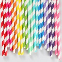 "235 Assorted Designs of 7.75""  Party Drinking Paper Straws  Diamond Circle Striped chevron  Polka Dot wholesale"