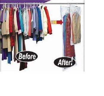 Hanger vacuum bag, 5 pcs |90*60, 110*60, 105*70, 145*70 | Vacuum bag with hanger | hanging vacuum storage bag | space saving bag