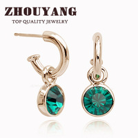 18K Rose Gold  Plated Stud Earrings Made With Austrian Crystal Stellux Wholesale Mix Colors ITALINA R.A ZYE207