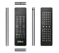RKM smart fly mouse,2.4G Qwerty wireless keyboard+Air fly mouse+IR remote+Audio Chat,build in speaker and Microphone(MK702II)