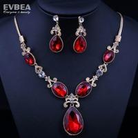 bridal jewelry sets crystal weddding charm necklace set drop water pendant necklace austrian crystal jewelry set evbea