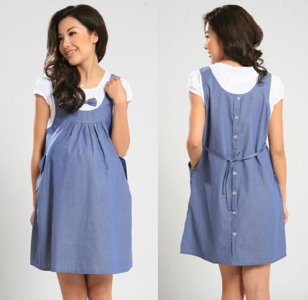 Plus la taille robe de maternité 2014 xxl manches courtes en coton de la mode des vêtements d'été pour les femmes enceintes mignonnequalité arc, robe de grossesse