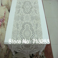Free shipping 2103 beautiful table runner 40*180cm table flag embroidery full work dacron for home hotel wedding NO.459-1
