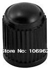 100 pcs/lot Black Plastic Tire Valve Cap Car Tyre Valve Stem Cover 8V1 Threads Retail & Wholesale China Post free shipping