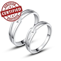 (2 pieces/a pair) Certified 100% REAL Sterling silver 925, 18k gold plated,  engagement ring sets 2014, lover's jewelry