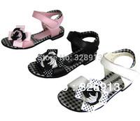 2013 summer  girls princess  genuine leather sandals  bowtie   kids  children  shoes  sandales