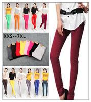 2014 large size women pants  candy color lady pants  pencil pants  slim pants