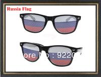Russia Flag glasses Flag sunglasses party glassesCustom LOGO on lens sunglasses Pinhole glasses cheap pinhole glasses