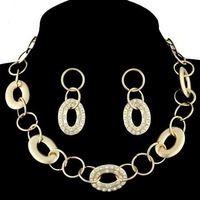 Wholesale High Quality 18K Gold Plated African Rhinestone Fashion Necklace Jewelry Sets,Free Shipping AIX-8