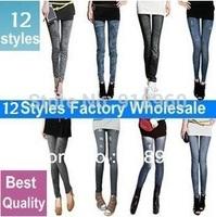 big sale summer Printing 18 colors imitate Denim Jeans Women's pants/Skinny Slim Elastic Stretchy Leggings Pencil Pants/WTs