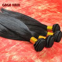 GAGA hair products cheapest high quality 100% Brazilian virgin hair straight human hair straight weave hair 3pcs mixed length