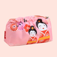 Free shipping new fashion high quality Japan cartoon-villains ruffles pink shopping hand-carried ladies storage cosmetic bags