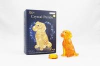 3D Educational Toys Crystal Puzzle Plastic Puzzle Lovely Doy Home Furnishings 2 Colors for Choose Free Shipping