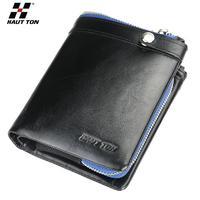 Hautton New arrival genuine leather Fashion men wallet Hot sale Cheap male unique Coin purse Wholesale
