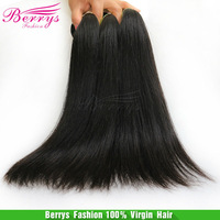"6A Berrys fashion Hair ,Malaysian Virgin Hair Straight 4pcs/lot(12""-34"") natural color soft hair weaves new star product"