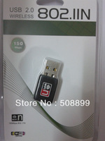 Free Shipping Mini 150M USB WiFi Wireless Network Card 802.11 n/g/b LAN Adapter+DropShipping