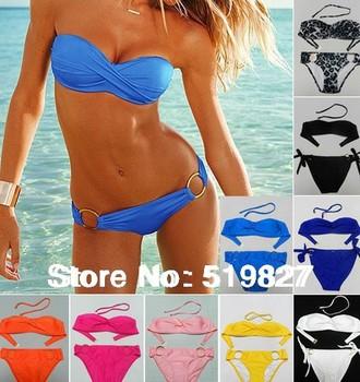 PUSH UP new 2014 vintage swimwear bikini swimsuit brand vs swimsuit top and bottom bikinis women bathing suit brazilian 8825