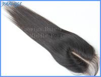 "Freeshipping Cheap Virgin Brazillian Straight Hair Lace Top Closure 3.5x4"" Bleached Knots Human Hair Closure Middle or Free Part"