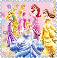 Promotion price 9 Pcs/lot Quality Princess Cartoon Floor Mat Baby's Climb Blanket Eva Foam Puzzle Mat Game Carpet Crawling Rug