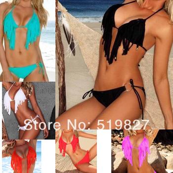 2014 sexy Tassel Fringe usa secret swimsuit the bathing suit discount monokinis bandage bikini swimwear for women swimming wear