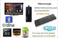 Rikomagic MK802 IIIS Mini Android 4.1 PC Android box RK3066Cortex A9 1GB RAM 8G ROM with Bluetooth[MK802-II IS/8G/BT+MK702II]