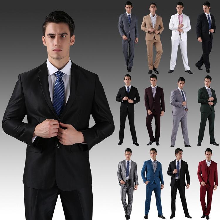 ( jackets+pants) 2014 nouveaux costumes pour hommes slim fit personnalisé tuxedo robe de mariage de mode de marque bridegroon d'affaires costumes blazer. h0285