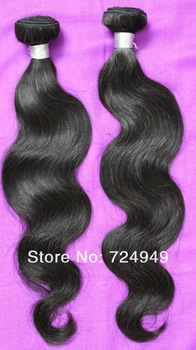 Free Shipping Queen Hair Products Brazilian Virgin Hair Body Wave 3 /4 pcs Lot 100% Human Hair Grade 5A No Tangle No Shedding
