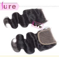 10pcs Virgin Peruvian Free part lace closure bleached knots body wave closure
