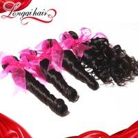 4PCS Lot Mixed Length Brazilian Loose Wave Human Hair Weave, 6A Unprocessed Brazilian Virgin Hair Wavy Longqi Hair Bundles
