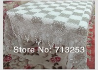 No.594-2  free shipping hot sell embroidered cutworking table cloth gray with white design for home hotel wedding  (150*220cm )