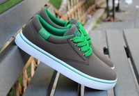 Free Shipping 2013 Canvas Grey Yellow Black  Sneakers For Men High Quality comfortable skate Shoes Size 39-44
