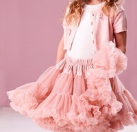 Free Shipping Hot Sale 2-9 Years Princess Fluffy Girls Chiffon Skirts Children's Tutu Skirts Baby Kids Pettiskirt Dancing Skirt