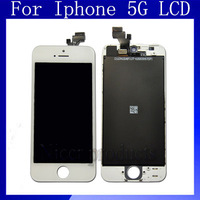 Free Shipping 100% Test  For iphone 5 For Iphone  5G LCD Screen Display  With Touch Screen Digitizer Assembly
