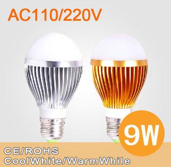 Free Shipping 9W/15W LED Bulb Bubble Ball High Power E27 GU10 E14 B22 3*3W 5*3W Dimmable Lamp Light,AC85-265V,Cool/Warm White