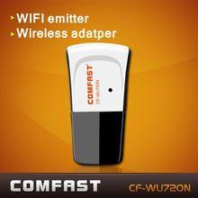 Free shipping Mini 150Mbps USB WiFi Wireless Network Card 802.11 n/g/b LAN Adapter RALINK 5370 Comfast CF-WU720N with CD driver(China (Mainland))