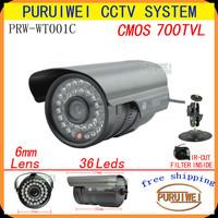 100%Original 1/4''CMOS 700tvl IR-CUT Filter 36pcs Leds IR Indoor/Outdoor Waterproof Video Security CCTV Camera.with bracket.