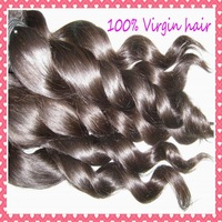 "Nice Spiral curl Brazilian  LOOSE wave virgin hair weaves bundles 12-28"",cuticle aligned , 4pcs/lot,free shipping to USA"