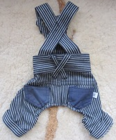 1 piece Overalls jeans harem pants Pet Dog Cat puppy Clothes size  XS S M L XL
