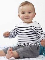 Retail 100% cotton Fashion long sleeve baby clothes sets top and pants Kids suits free shipping