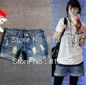 Promotion lady Denim Shorts,(S,M,L,XL,XXL)Fashion Ladies Jean Shorts,Denim Pants with Casual Short Hot Sale Free Shipping(China (Mainland))