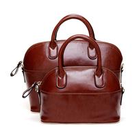 Free shipping!Smilyan 2014 fashion vintage shell bag genuine leather women's shoulder bag women's leather handbags tote handbag