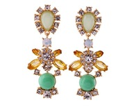 NO Min. Order Free Shipping Luxury Green Women's Drop Earrings  With Rhinestones And AAA crystal