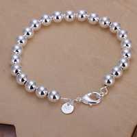 Free Shipping Wholesale 925 Sterling Silver Bracelets & Bangles,925 Silver Fashion Jewelry,8M beads Bracelet SMTH126